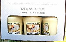 "Box Lot of 18 Yankee Candle ""MILK & COOKIES"" Food Sampler Votives Rare & VHTF"