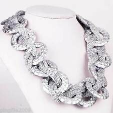 Fashion Silver Round chain Nobility Style Bib Statement Chunky Necklaces