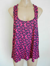 Size 12  Hot Pink and Navy Blue Halter Style Swing Top Blouse Tunic BNWT