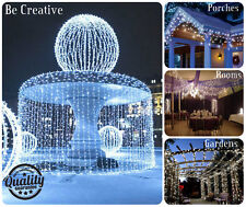 9M 320 LED blanco brillante nevar carámbano Luces Interior/Exterior Navidad Luces