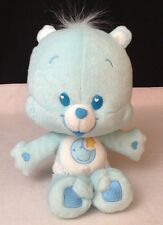 "Care Bear CUBS (Baby) 12"" BEDTIME Bear Cub Stuff Plush Star & Moon Blue Bear"