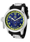 New Men's Invicta 1799 Russian Diver Chronograph Blue Dial Black Poly Watch