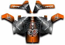 Polaris RZR 800 UTV Wrap Graphics Decal Kit 2007 2010 Turbo Charged Orange