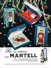 PUBLICITE ADVERTISING 054  1960  MARTELL  cognac  coffret cadeau