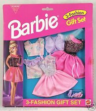 BARBIE 3 FASHION GIFT SET EASY TO DRESS #1 NRFB
