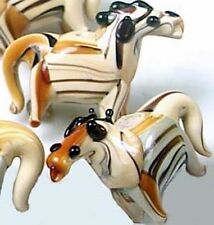 Lampwork Handmade Glass Woodland Horse Beads (6)