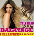 THICK EUROPEAN BALAYAGE OMBRE CLIP IN REMY HUMAN HAIR EXTENSIONS Blonde Brown