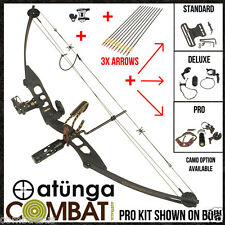 NEW PRO Extreme Black 60lbs Compound Bow and Arrow 4 Hunting & Target atunga