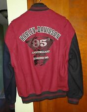 Harley-Davidson Motorcycle 95th Anniversary Wool Jacket Varsity Mens XS Womens L