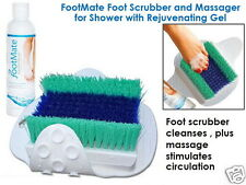 Foot Scrubber Brush Massage Care Shower Clean W/ Gel Reduces Odor Soft Bath room