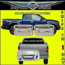 2004-2014 F150 Chrome 2 Door Handles 1KH+Tail Gate Cover w/Camera & Keyhole