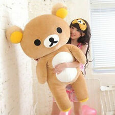 "New 80cm Cute San-x Rilakkuma Relax Bear 31"" Giant Stuffed Pillow Plush Doll Toy"