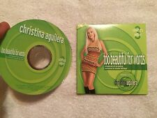 CHRISTINA AGUILERA - TOO BEAUTIFUL FOR WORDS RARE SEARS EXCLUSIVE PROMO CD
