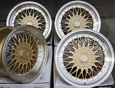 "15"" GOLD RS ALLOY WHEELS FITS AUDI 80 90 100 COUPE SAAB 900 9000 4X108 MODELS"