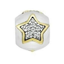 Lovelinks Element, Charm Silver 'Bright Stars' 14ct Gold Bead 1182428-75