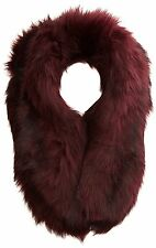 New Look Women's Faux Fur Collar Scarf, Red (Dark Red), One Size