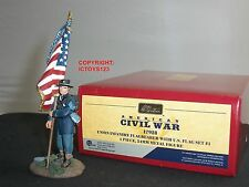 BRITAINS 17928 UNION INFANTRY FLAGBEARER WITH US FLAG METAL TOY SOLDIER FIGURE