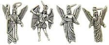 MRT Set Of 4 Archangel Angel Silver Tone Medal Charms San Miguel Rafael Gabriel