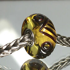 REDUCED ! TROLLBEADS  OOAK UNIQUE AMBER ENGRAVED RARE