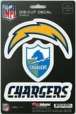 New NFL San Diego Chargers ProMark Die-Cut Decal Stickers 3-Pack