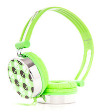 Adjustable Kids Childrens Skull Headphones Green for iPad mini iPad Air iPad 3 4