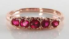 Classic 9k 9ct Rose Oro Indiano Ruby Eternità Anello libero Ridimensiona