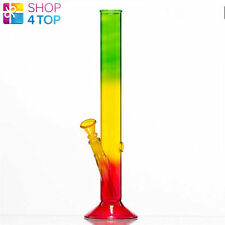 WATER PIPE SMOKING BONG RASTA TRANSPARENT TOBACCO 35 CM LARGE MARY JANE NEW