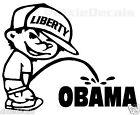 "6"" Liberty Calvin Pee Piss on Obama Vinyl Decal Window Sticker"