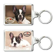 I LOVE FRENCH BULLDOG KEYRING LLAVERO BULLGOG FRANCES