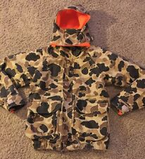 Vintage COLUMBIA Brown Camo GORE-TEX Reversible Hunting Coat/Jacket Men's L USA