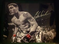 Chris Weidman signed 16x20 on way to beat Anderson Silva UFC MMA