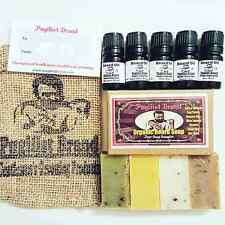 Beard Care Oil & Organic Beard Soap by Pugilist Brand - 9 Fragrance sampler pack