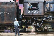 NYC 4-8-2 MOHAWK, ORIGINAL LIMITED EDITION RAILROAD TRAIN ART DIRECT FROM ARTIST