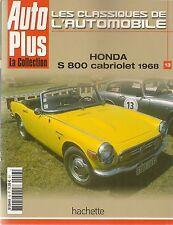 LES CLASSIQUES DE L'AUTOMOBILE 13 HONDA S800 CABRIOLET 1968 SOICHIRO HONDA Z600