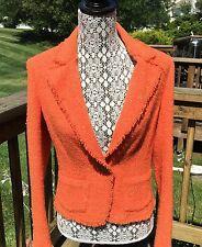 VERSACE JEANS COUTURE ORANGE SPARKLING JACKET WITH POCKETS SIZE 30/44 ITALIA