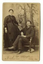 19th Century Fashion - 1800s Cabinet Card Photo - J.H. Knight of Worcester, MA