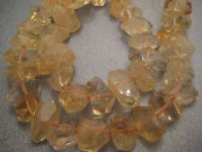 Citrine Faceted Freeform Nuggets Beads 40pcs