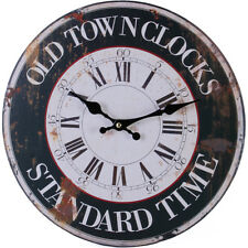Rustic Style Shabby Chic Old Town Kitchen Wall Clock