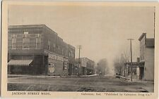 Indiana In Postcard c1910 GALVESTON Jackson St STORES Drug Co Pub.