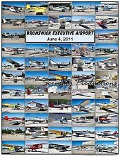 BRUNSWICK EXECUTIVE AIRPORT FLY-IN 2011 AIRCRAFT POSTER - MRA Aviation Event
