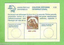 #D199.  ITALY  400  LIRE  INTERNATIONAL  RESPONSE COUPON