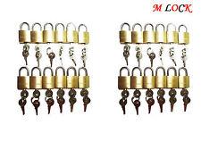 LOT OF 24 small brass padlock (20MM) Mini Tiny Lock Box Jewelry drawer KEY ALIKE