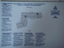 Plan original Hotel Disney Newport Bay Club - 3 EF - DISNEYLAND Paris NEUF