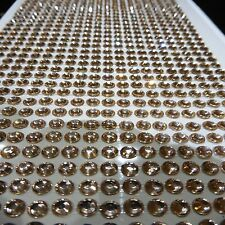 1000x 4MM SELF ADHESIVE STICK ON DIAMONTE BRONZE CRYSTAL RHINESTONE DIAMANTES