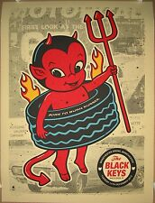 THE BLACK KEYS BRADLEY MANCHESTER ARENA UK PRINT METHANE CONCERT POSTER 12/11/10