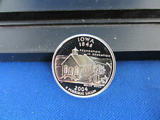 2004-S Iowa Silver Quarter Deep Cameo Mirror Proof Cracked out of 2004 Proof Set