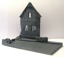 Milicast DBS11 1/76 Resin House side elevation Diorama Base set on road section