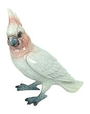 """Pink and White Cockatoo Figurine - 6"""" Tall  - Parrot"""