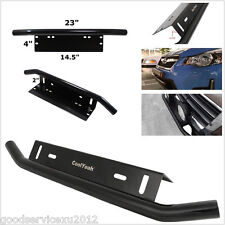 Stainless Steel Bull Bar Type Car SUV Bumper License Plate Work Lamp Bracket Kit