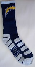 San Diego Chargers Men's Crew Socks Large Size 10 to 13 Patches